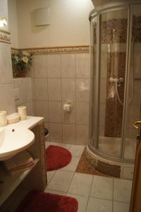 Un baño de Ferienhaus Alpenroyal