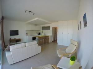 Ein Sitzbereich in der Unterkunft Apartment S7