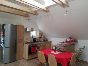 Kuchyň nebo kuchyňský kout v ubytování Apartments Anna and Ondra