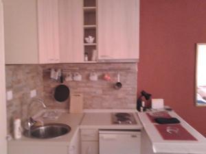 A kitchen or kitchenette at Apartments Kovac
