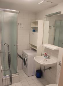 Ванна кімната в 1,5 Zimmer-Apartment