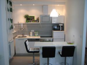 Kuhinja oz. manjša kuhinja v nastanitvi Eva Luxury Rooms & Apartments