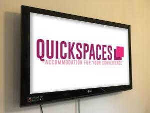 A television and/or entertainment centre at QuickSpaces Heart of the City