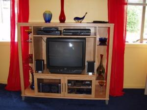 A television and/or entertainment centre at Summit View Lodge