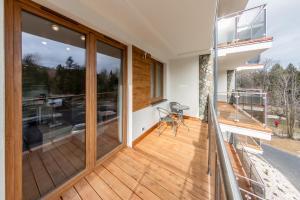 A balcony or terrace at Apartament Eva