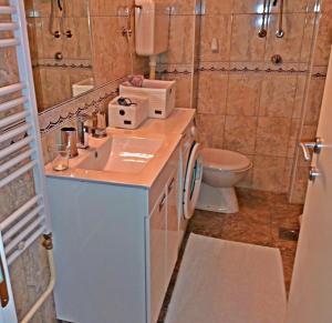 A bathroom at Bitcoin Apartment Belgrade