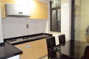 Lv Tu Apartment Pazhou Exhibition Center tesisinde mutfak veya mini mutfak