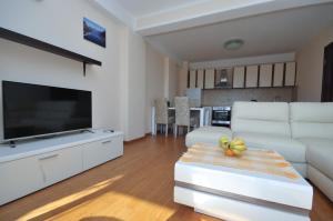 A television and/or entertainment center at Apartments Maini