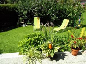 A garden outside Ferienhaus Irger