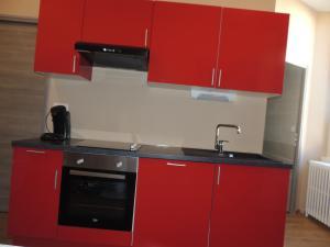 Cuisine ou kitchenette dans l'établissement Appartement Saint-Amour