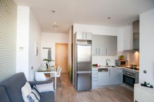 A kitchen or kitchenette at Feelathome Mozart Apartments