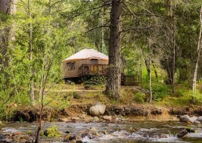 Resort Village Yosemite Lakes River Yurt 24 Harden Flat CA