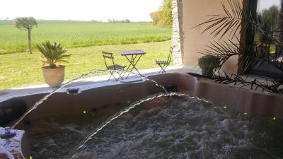 featuring a hot tub dans mon jardin is set in mouchamps miles from le puy du fou theme park and a hour drive from the sea