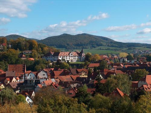 Vista aèria de Ferienwohnung Trollmann