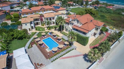 A bird's-eye view of Christy's Beach Villas