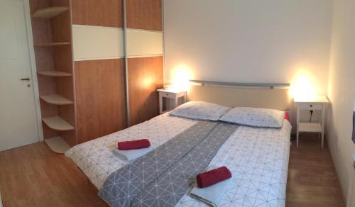 Postelja oz. postelje v sobi nastanitve Apartment Nova Gorica - Nočitve Falco