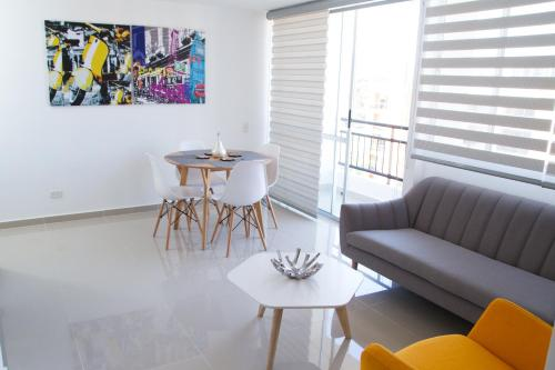 A seating area at Apartamento en Cali