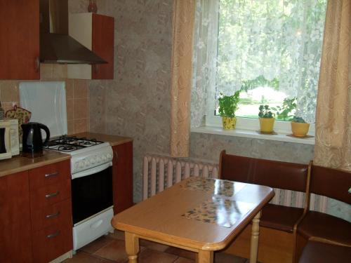 Virtuvė arba virtuvėlė apgyvendinimo įstaigoje Ruta