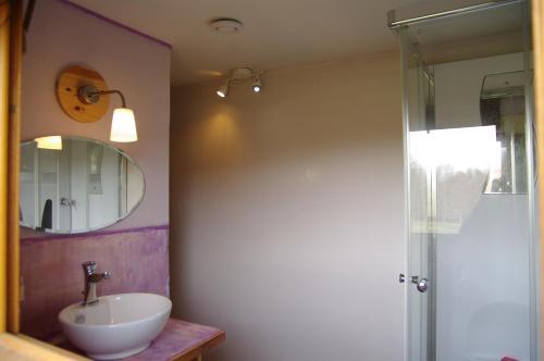 Salle de bains dans l'établissement Ecologite les Sureaux