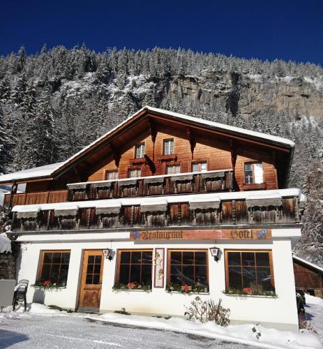 Hotel-Restaurant Waldrand during the winter