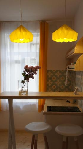 A kitchen or kitchenette at Bohemian Cozy place Cluj