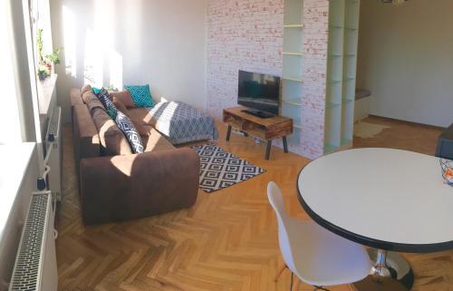 A seating area at Old town studio Dunajska
