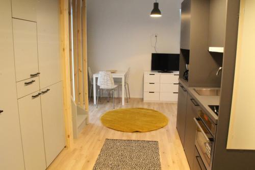 A stylish studio in a balcony access house in Hiekkaharju, Vantaa, completed in 2016. (ID 7515)