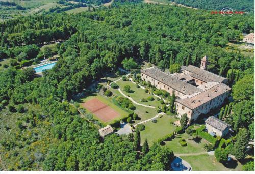 A bird's-eye view of Armonie del Chianti