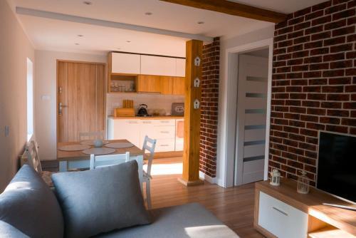 Küche/Küchenzeile in der Unterkunft Apartamenty Sami Swoi