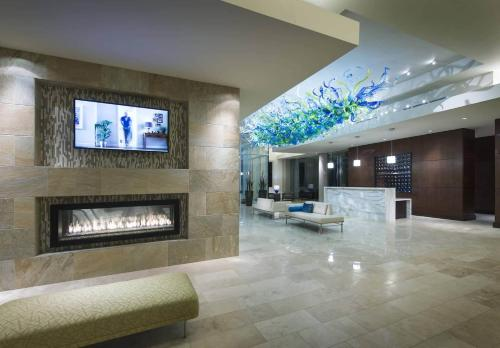 The lobby or reception area at Global Luxury Suites at Boston Seaport