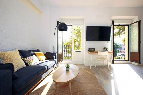 A seating area at Atocha Hub - MADFlats Collection