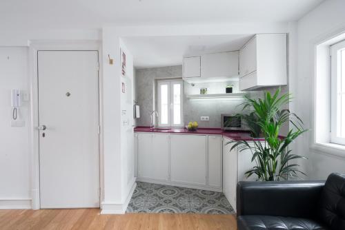 A kitchen or kitchenette at Almamater Lisbon Apartments