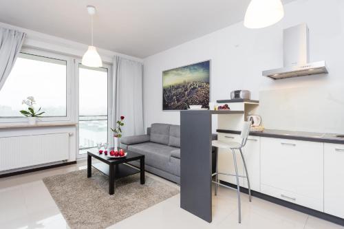 A seating area at Apartament Premium E&E