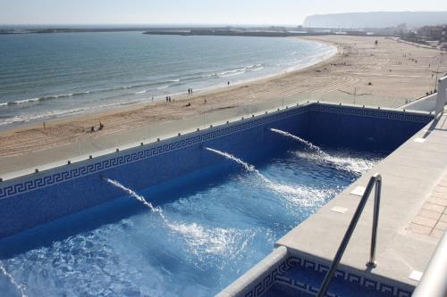 The swimming pool at or near Apartamentos Playa Barbate