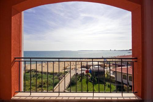 A balcony or terrace at Carina Beach - Free Private Beach