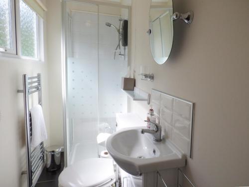 A bathroom at River's Nook