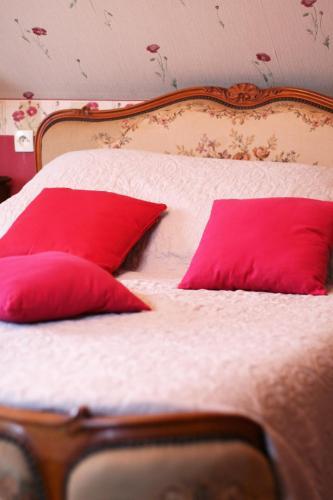 Cama o camas de una habitación en Les Renaudines