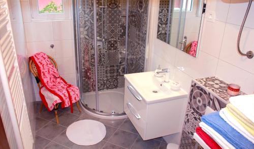 Kupaonica u objektu Apartment Petrcane