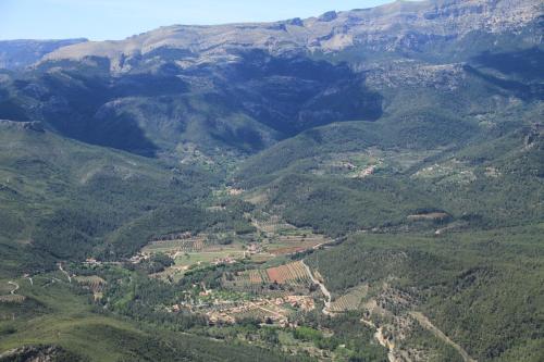 Casas Rurales La Donal a vista de pájaro