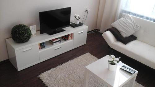 A television and/or entertainment center at Centrum Apartments - I. P. Pavlova
