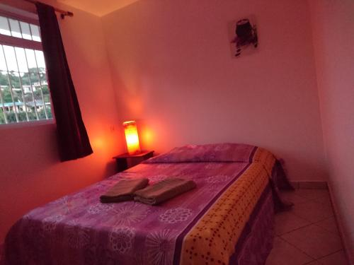 A bed or beds in a room at Iaorana Appartement 100m2