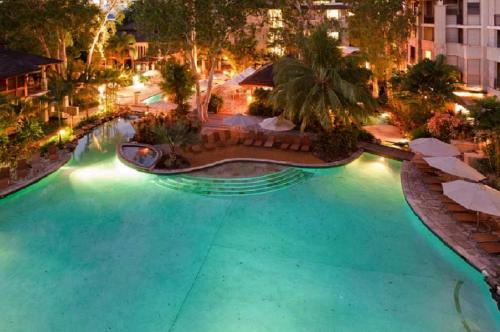 A view of the pool at Sea Temple Palm Cove 2 Bedroom Luxury Apartment or nearby