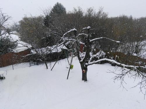 L'établissement La Maisonnette en hiver