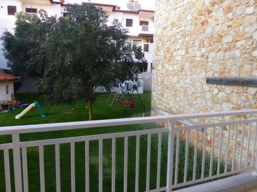A balcony or terrace at Pavloudis Apartments
