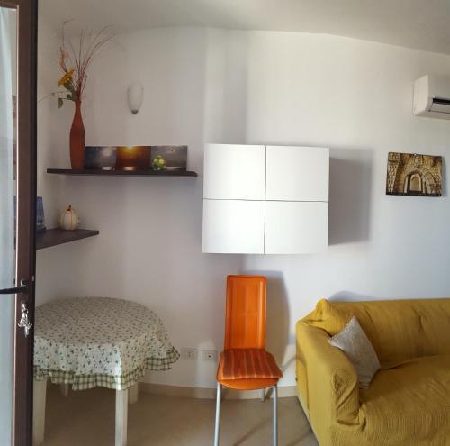 Posezení v ubytování A Borgo Frigole