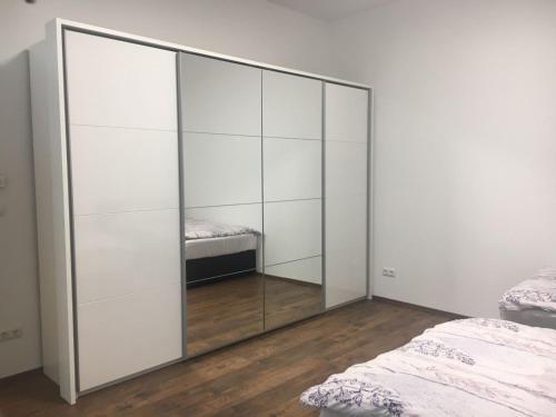 Ein Bett oder Betten in einem Zimmer der Unterkunft Apartment near City Center 2nd District