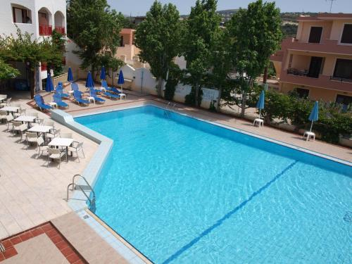 A view of the pool at Apollon Hotel Apartments or nearby
