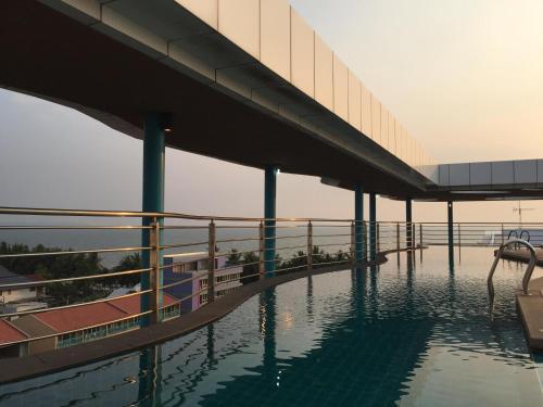 The swimming pool at or near The Beach Condo Bangsaen 329/45