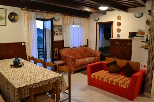 A seating area at Apartment Silva