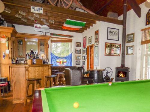 A pool table at The Stable Lodge, Carrigadrohid